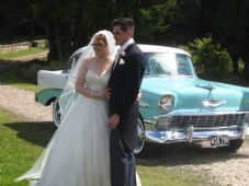 Vintage,Classic 1950's American Wedding Car Service -North Yorkshire & West  Yorkshire Areas